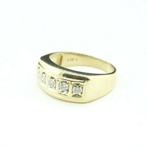 Other - 14K Yellow Gold Men's Diamond Pinky Statement Band